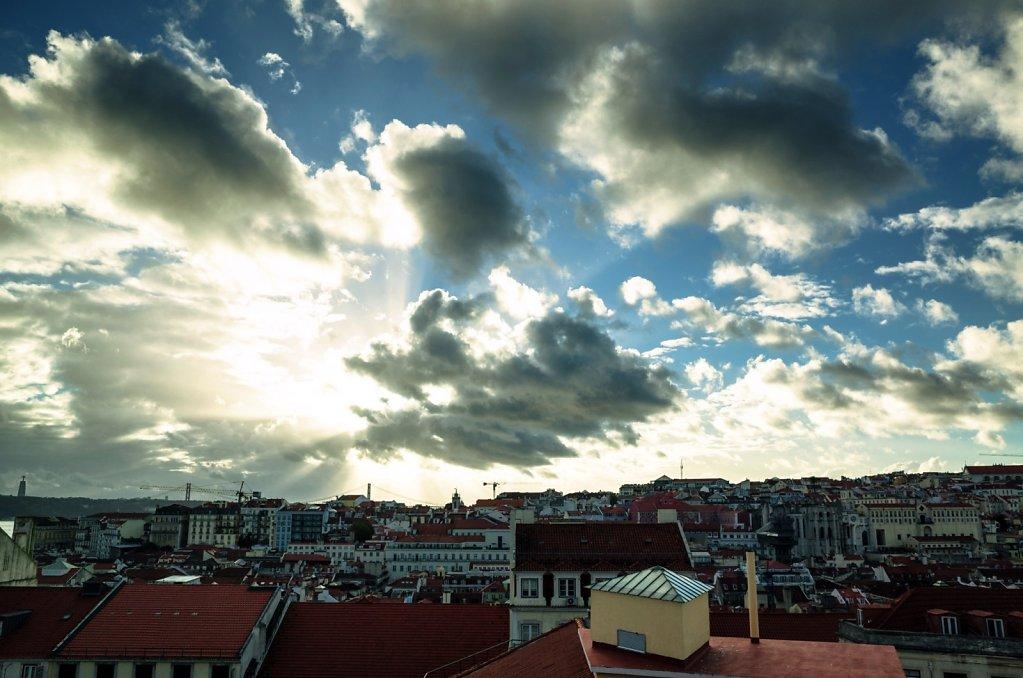 Sur les toits de Lisbonne