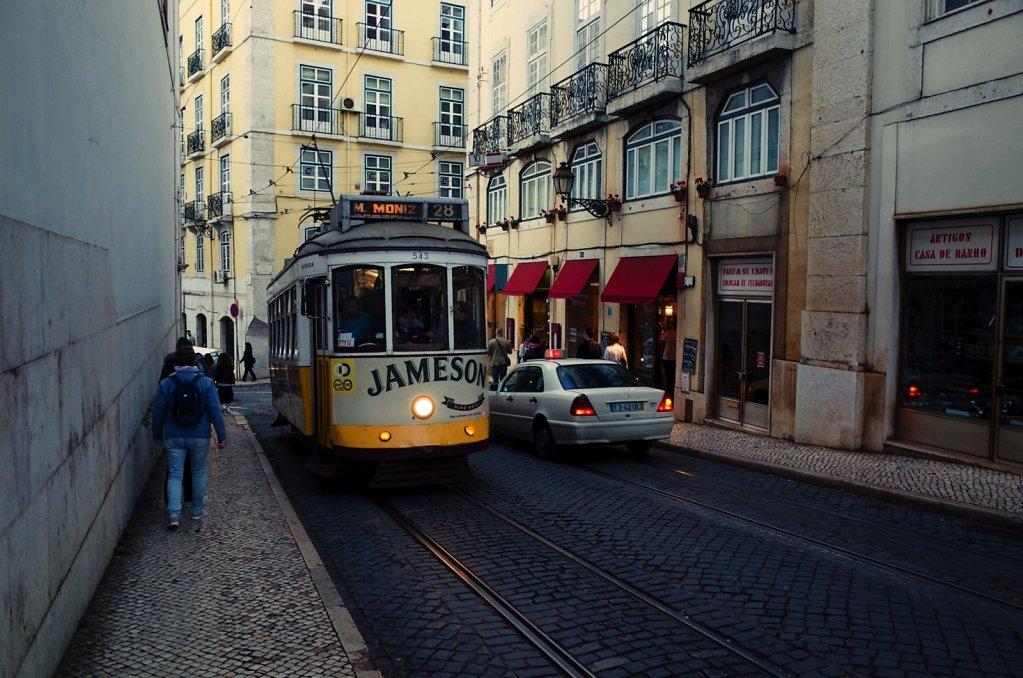 Jameson branded tram, Lisbon