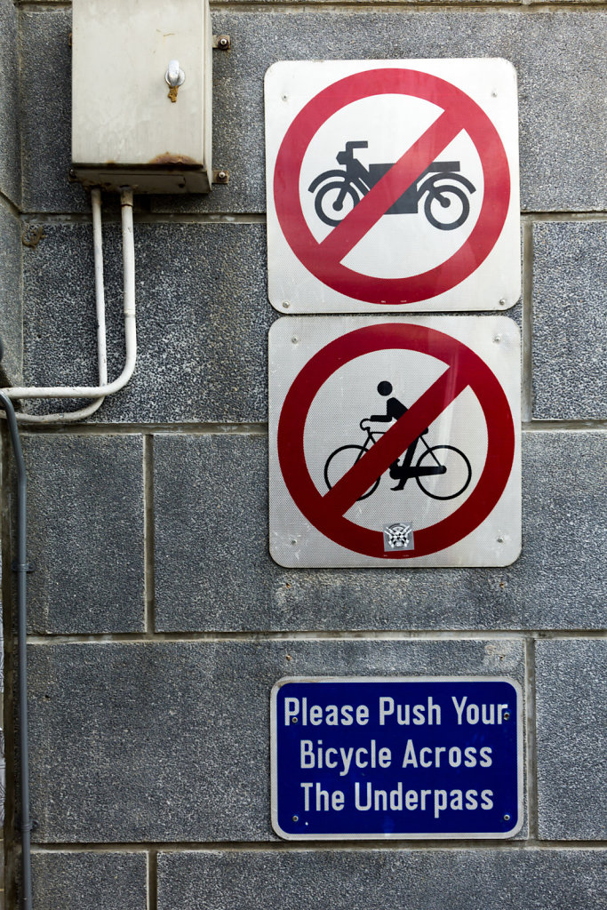 Push your bicycle