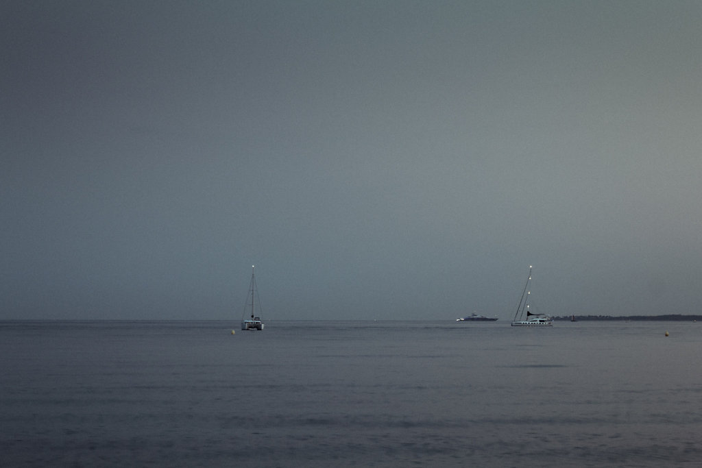 Overcast sea