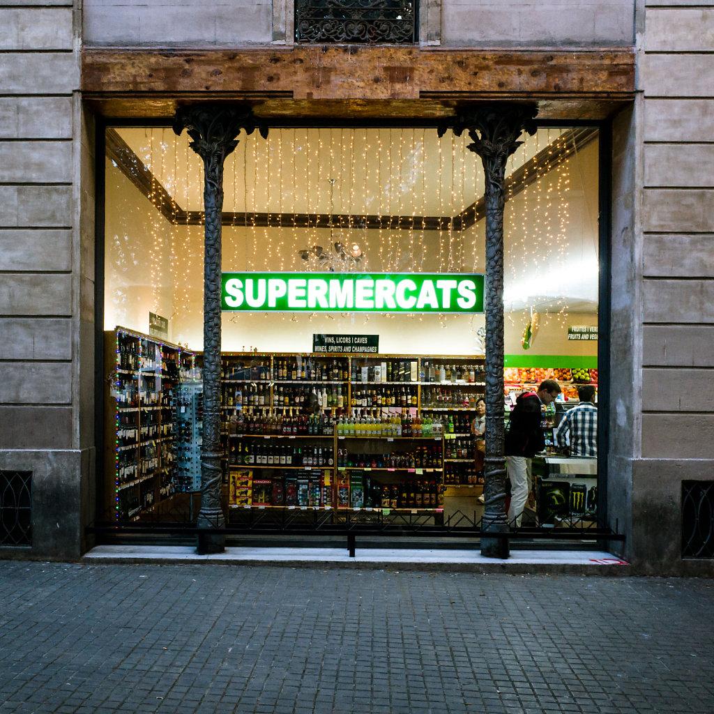 Supermercats, Barcelona