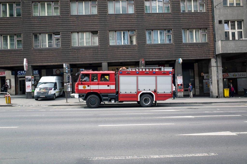 Fire truck, Prague