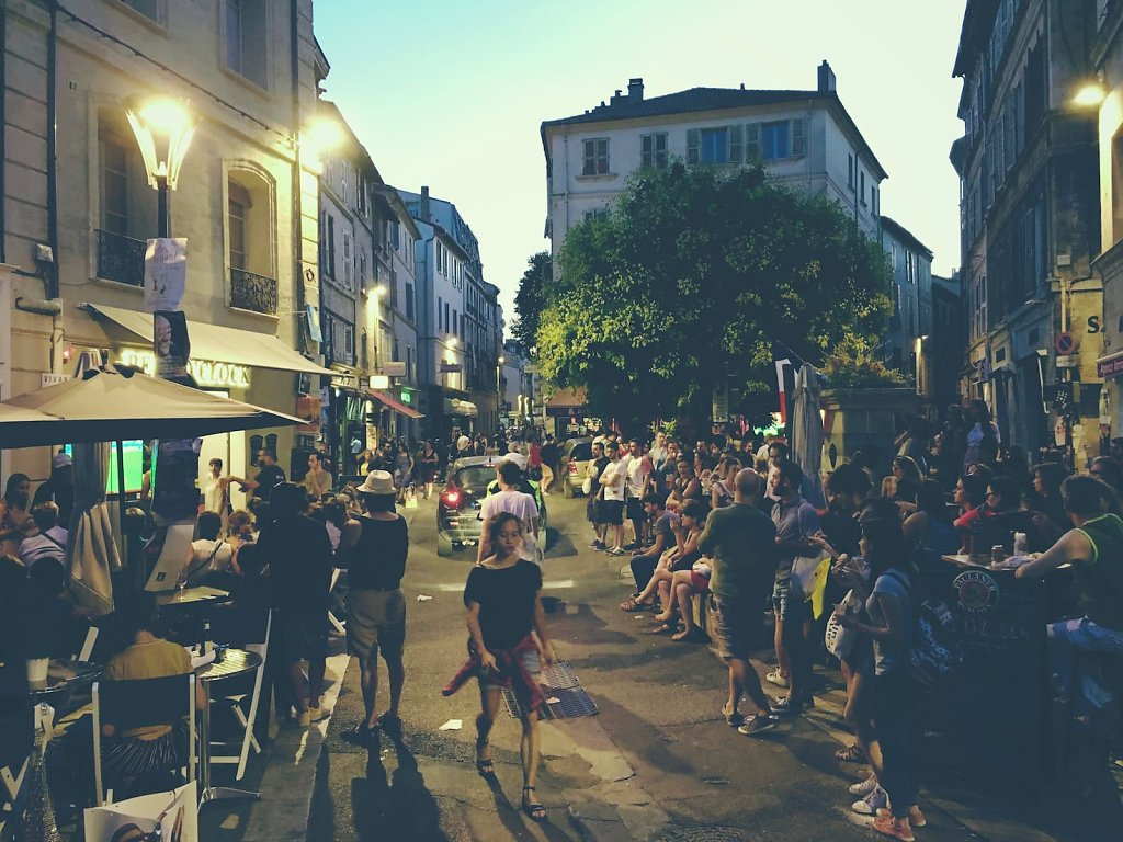 Le festival versus la coupe du monde, Avignon, 2018