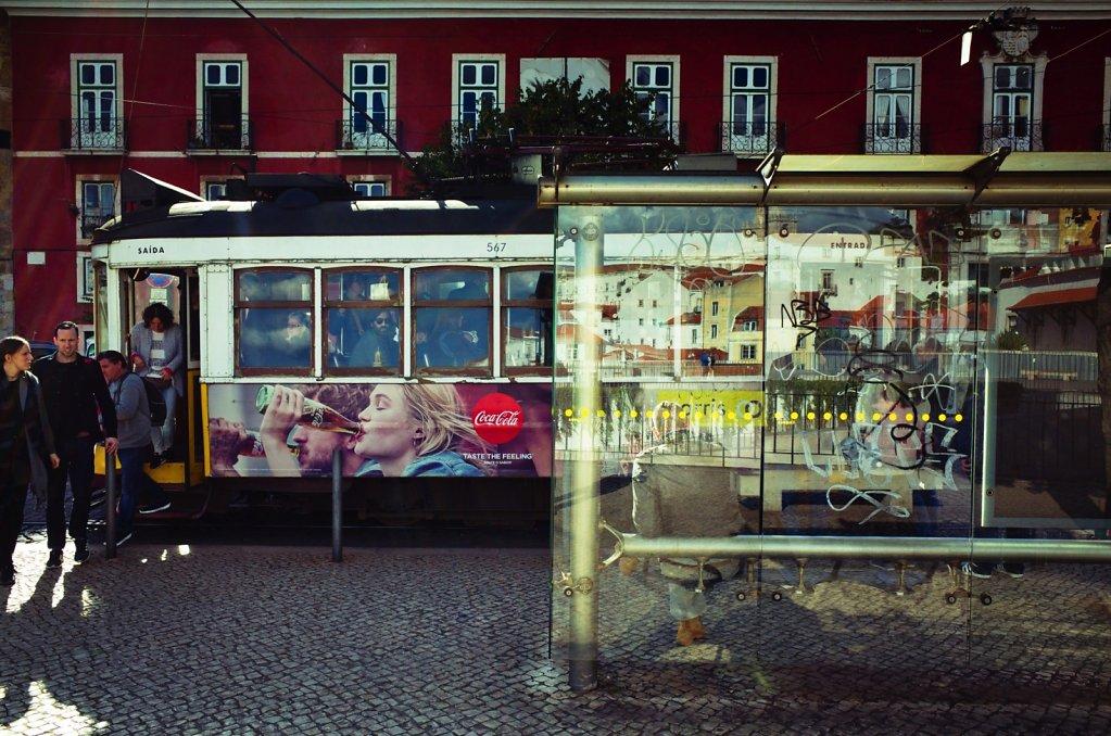 Tram station, Lisbon