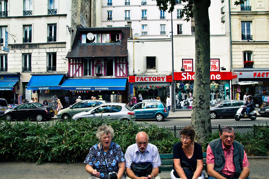 Les touristes, Paris