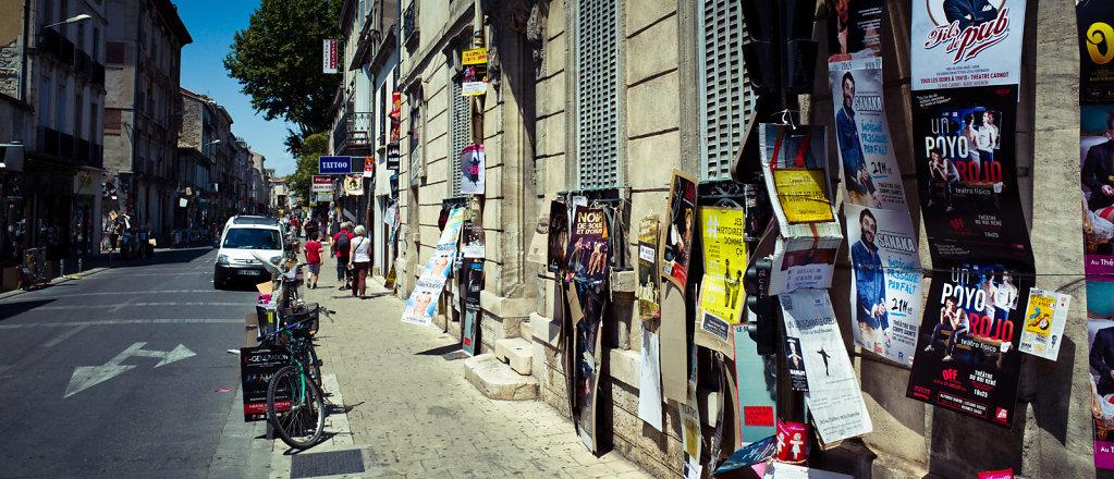 Posters on street, Avignon