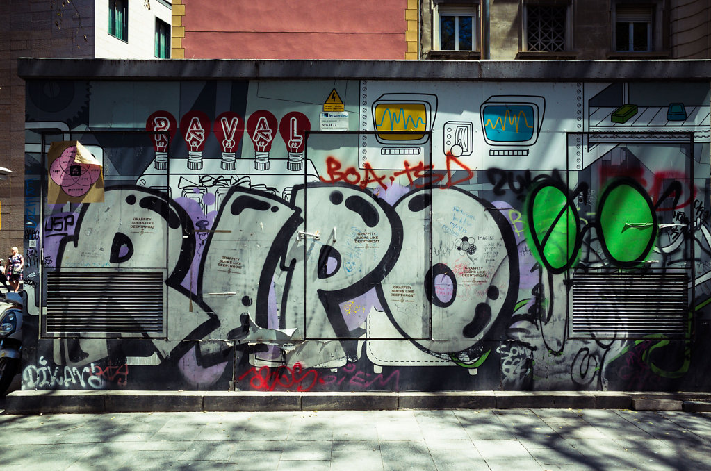 Grafitti in Raval neighbourhood, Barcelona