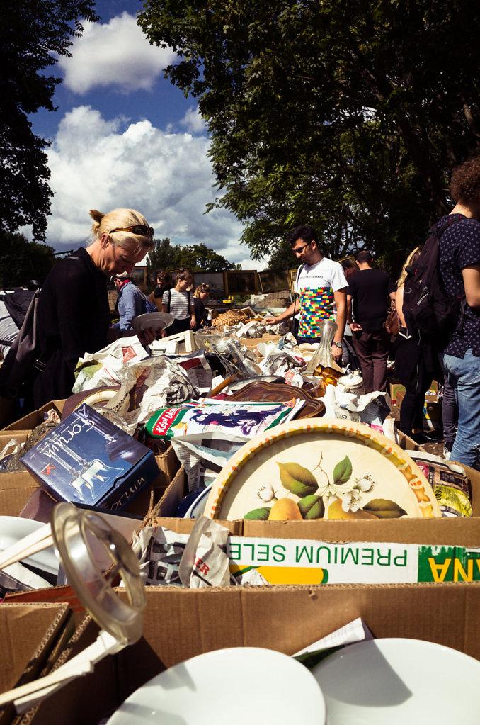 Flea market in Mauer Park