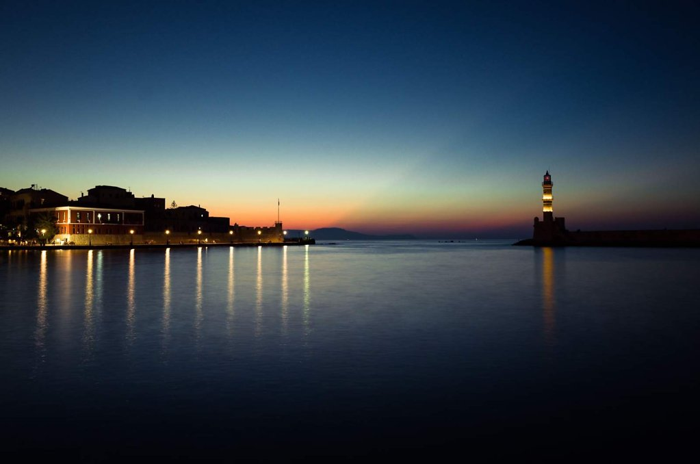Port and lighthouse in Chania