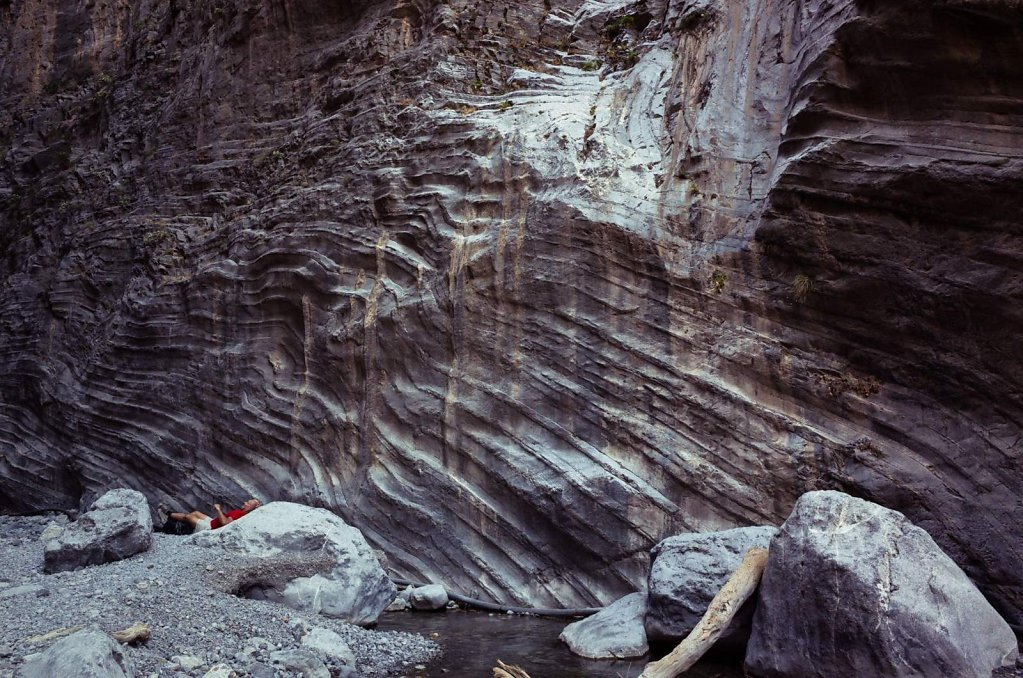 Scenic relaxation in the Samaria Gorge