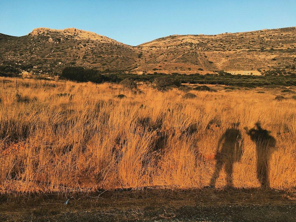 Shadowplay in Cretan scenery