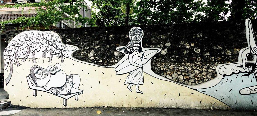 Surfer grafitti, Bali