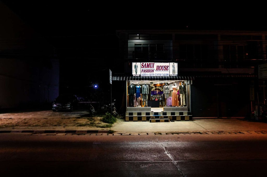 Fashion shop at night, Koh Samui