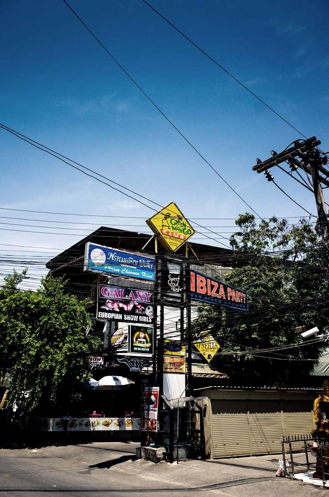 Signage and cables, Koh Samui