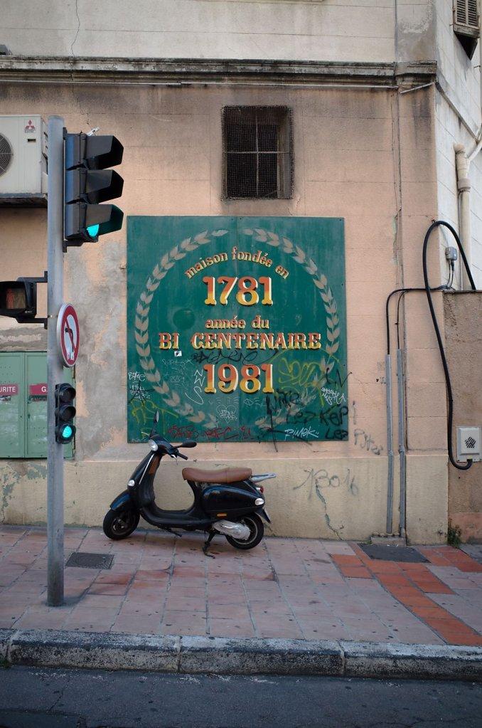 Vespa on the street, Marseille