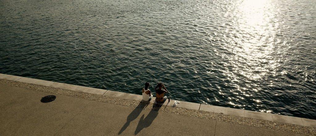 Enjoying the sunset, Arles