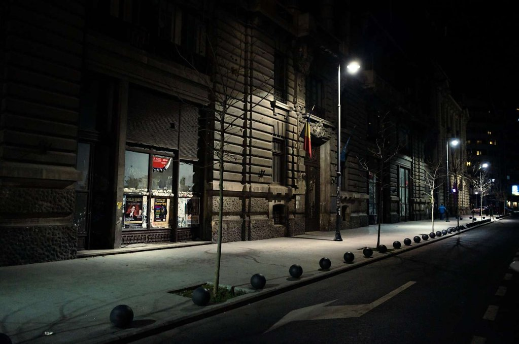 Street at night, Bucharest