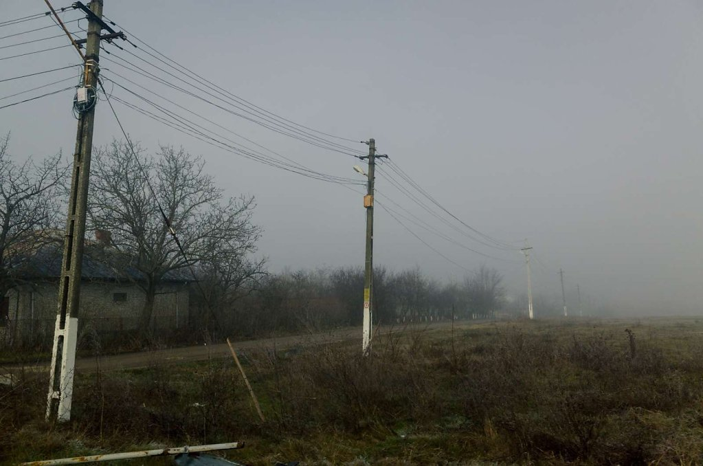 Country side scenery in fog