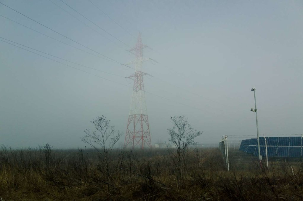 Powerlines and fog