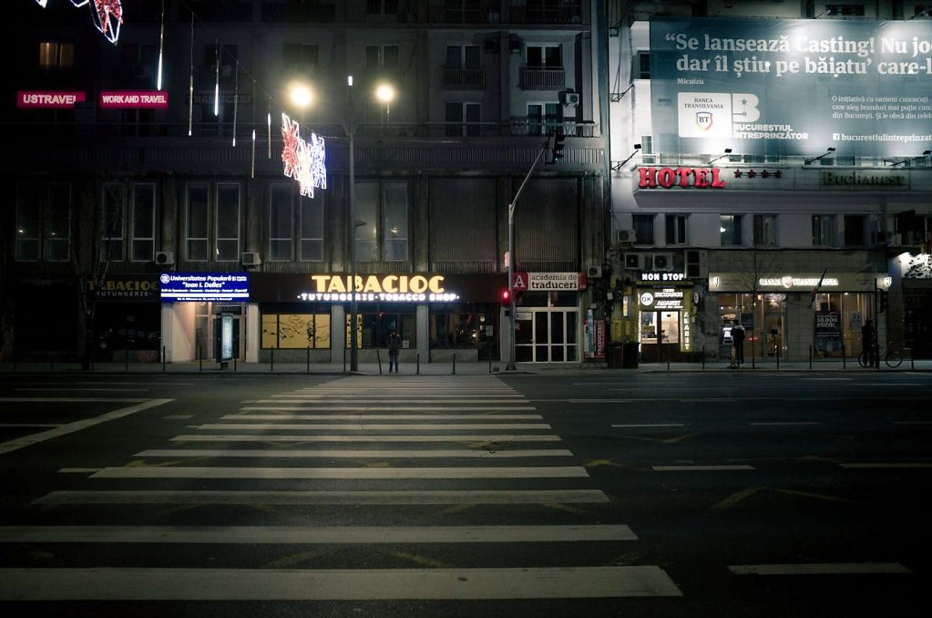 Magheru at night, Bucharest