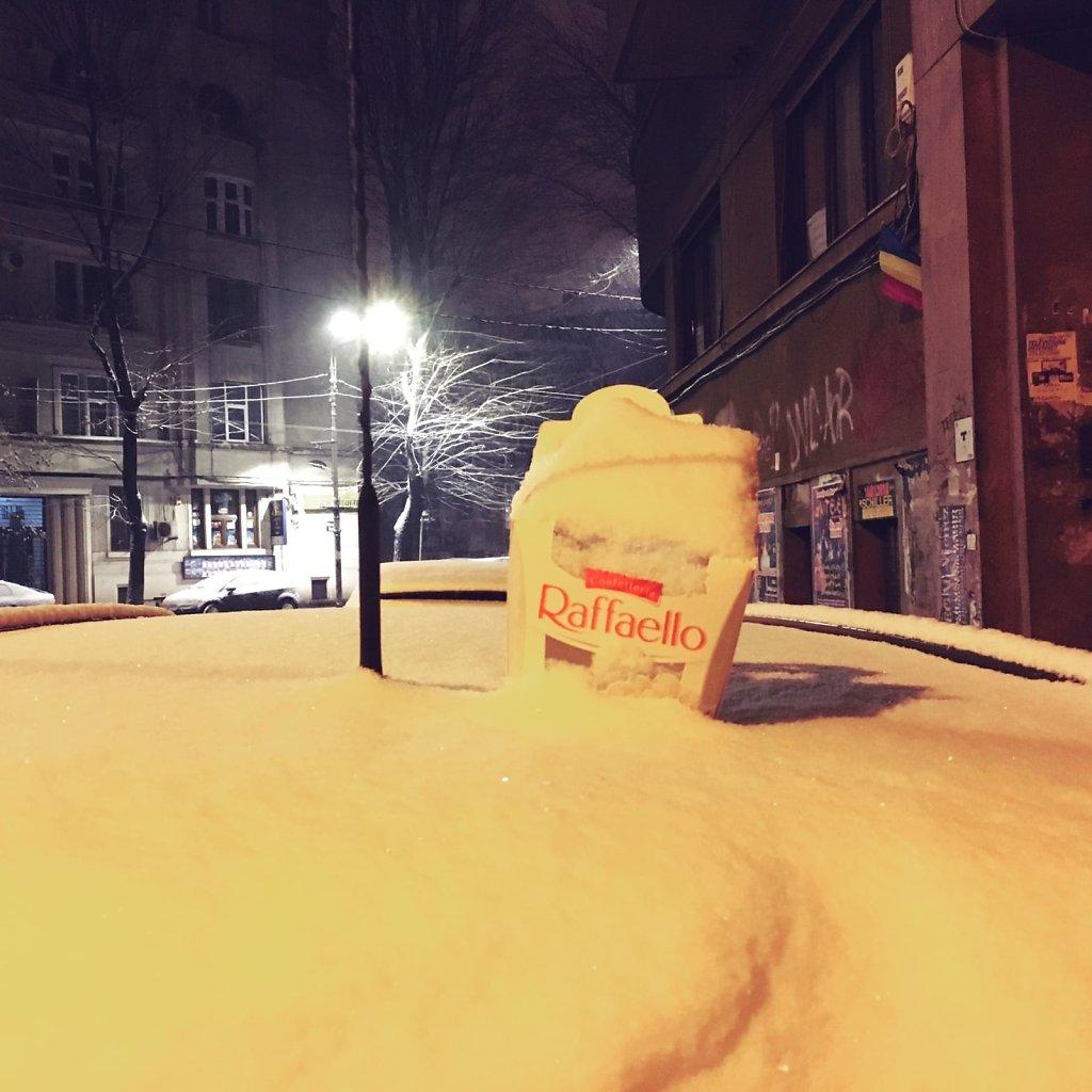 Box of fresh snow